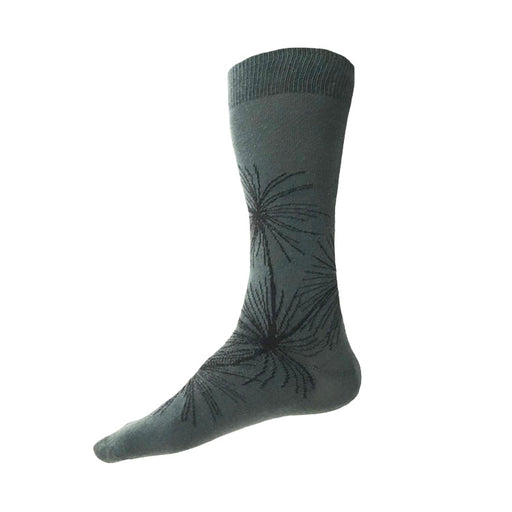 MADE IN USA men's cotton pine tree socks by THIS NIGHT in green