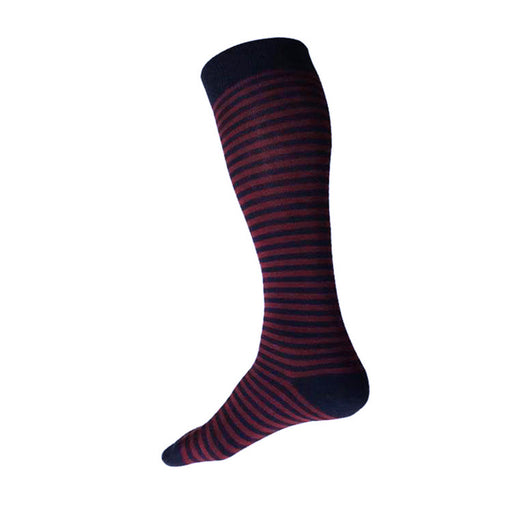 STRIPE Knee/Over the Calf (M/L) – navy + burgundy