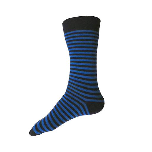 MADE IN USA men's navy and blue striped cotton socks by THIS NIGHT