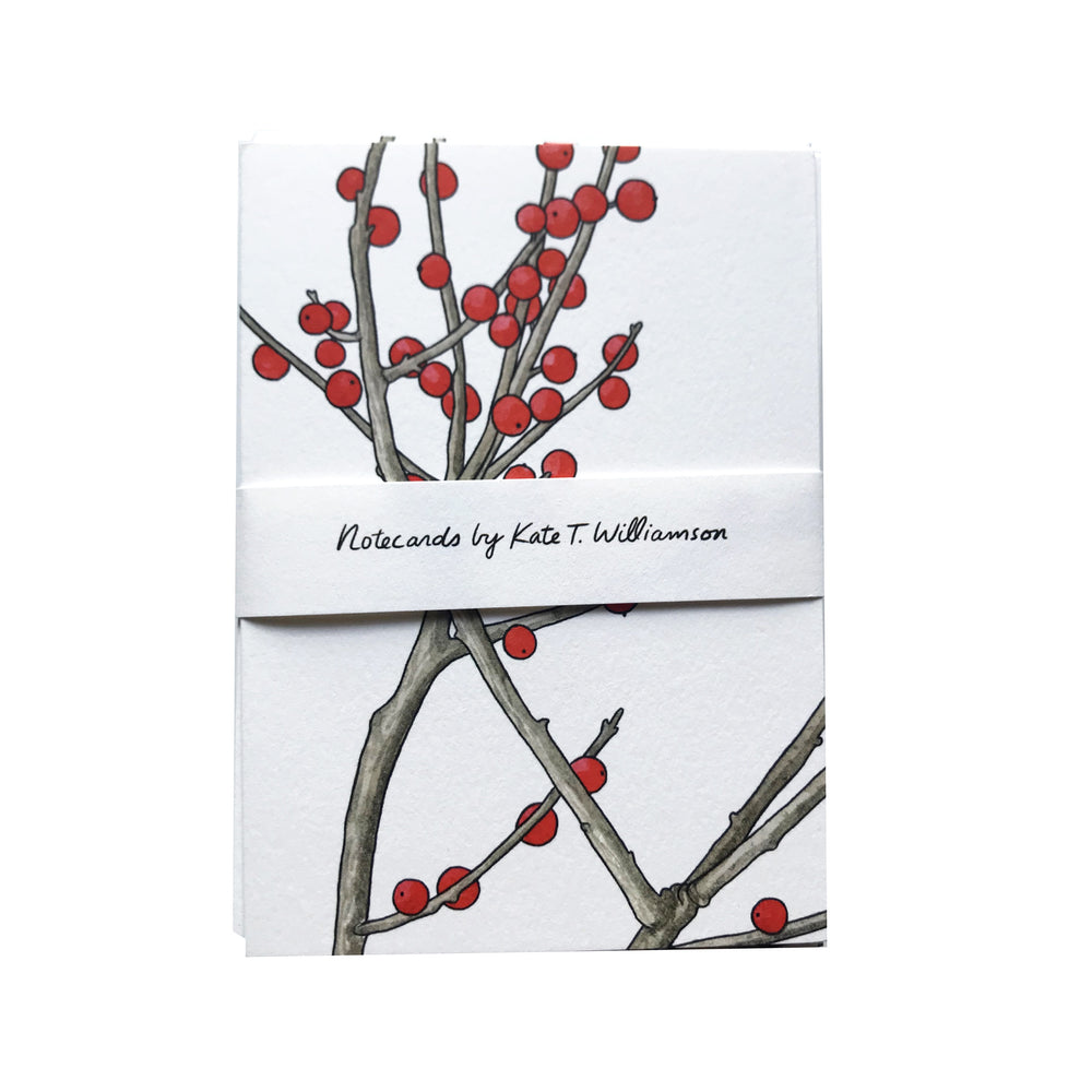 MADE IN USA Winterberry Botanical Note Cards by Kate T. Williamson