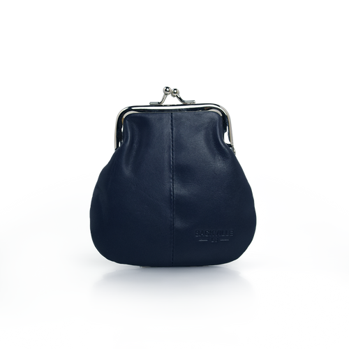 Kisslock Coin Case - Navy