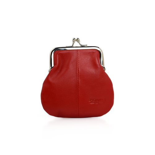 Kisslock Coin Case - Red