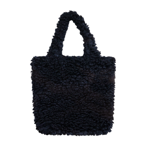 Colour-Field Simple Tote - Black Fur