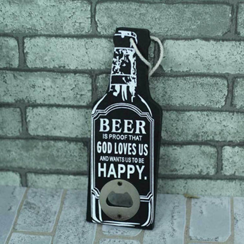 Creative Rustic Retro Wooden Beer Bottle Opener