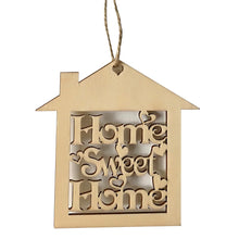 Load image into Gallery viewer, Decorative Wood Wall Hanging Home Sweet Sign