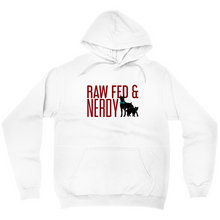 Load image into Gallery viewer, Cat & Dog Raw Fed & Nerdy Sweatshirt (White)