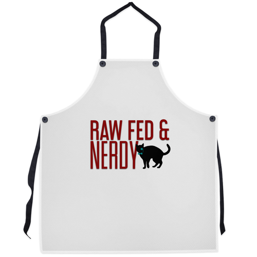 Cat Raw Fed and Nerdy Apron
