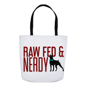 The Official Raw Fed and Nerdy Tote Bag