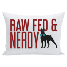 Load image into Gallery viewer, Official Raw Fed and Nerdy Throw Pillows