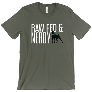 Official Unisex Raw Fed and Nerdy T-Shirt (Multiple Color Choices)