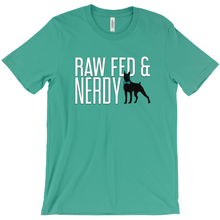 Load image into Gallery viewer, Official Unisex Raw Fed and Nerdy T-Shirt (Multiple Color Choices)