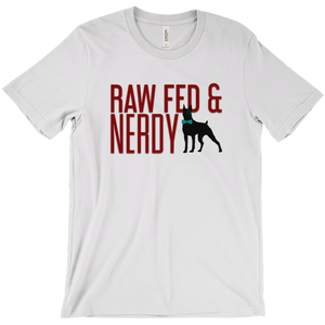 Official Unisex Raw Fed and Nerdy T-Shirts (Dark grey, white)