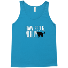 Load image into Gallery viewer, Cat Unisex Raw Fed and Nerdy Tank