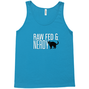 Cat Unisex Raw Fed and Nerdy Tank
