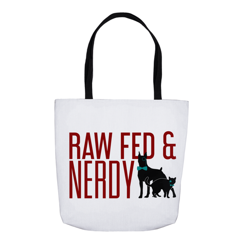 Raw Fed and Nerdy Cat & Dog Tote Bag