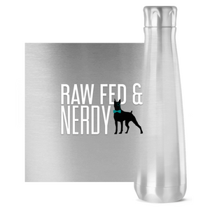 Official Raw Fed & Nerdy Water Bottle (White Text)