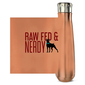 Official Raw Fed & Nerdy Water Bottle (Red Text)