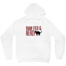 Load image into Gallery viewer, Raw Fed & Nerdy Cat Sweatshirt (White)