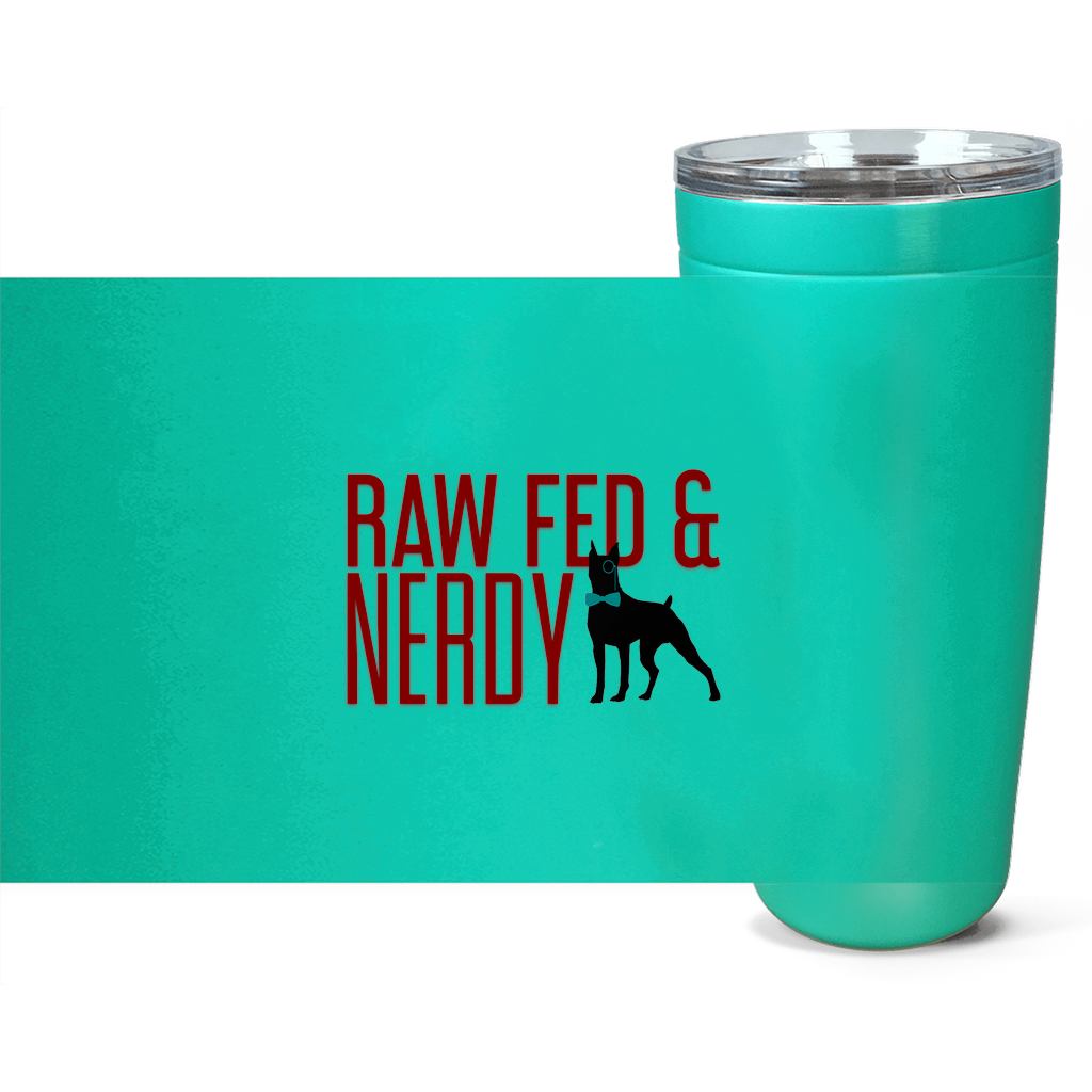 Official Raw Fed & Nerdy Tumbler (Red Text)