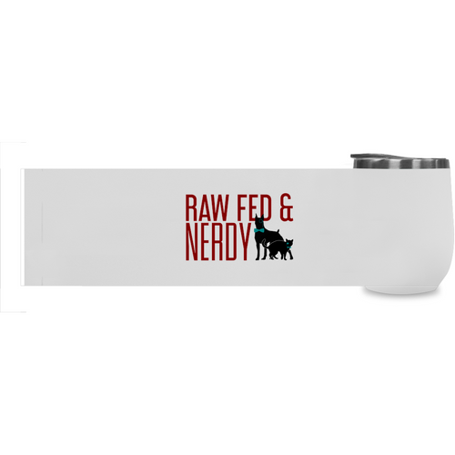 Cat & Dog Raw Fed & Nerdy Stemless Wine Tumblers