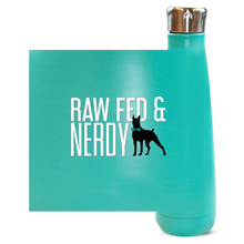 Load image into Gallery viewer, Official Raw Fed & Nerdy Water Bottle (White Text)