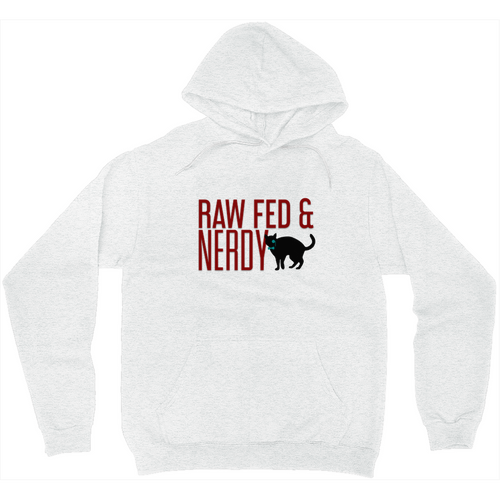 Raw Fed & Nerdy Cat Sweatshirt (White)