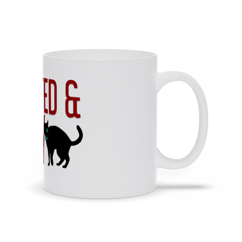Cat Raw Fed and Nerdy Mug