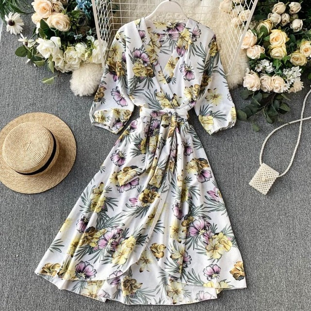 white yellow floral