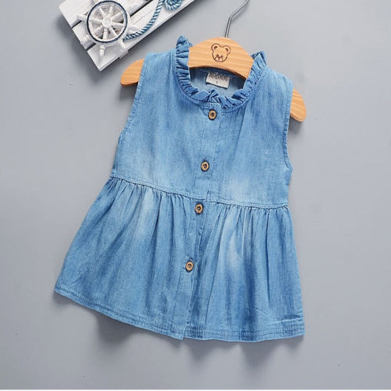 vestido Denim Tutu  Casual Top