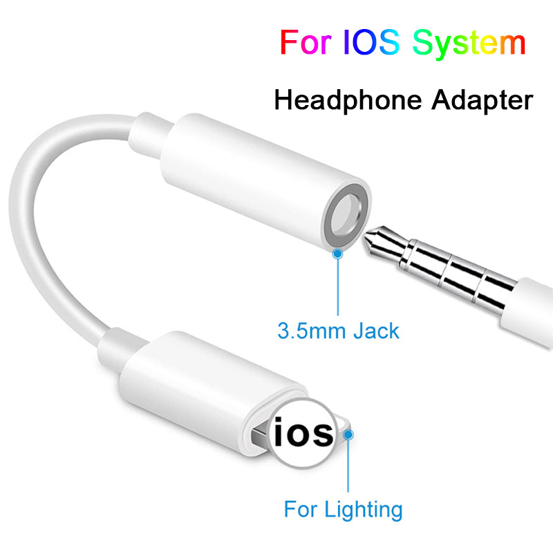 Adaptador de auriculares para iPhone 7 8 X