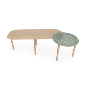 GRANDE TABLE BASSE ET PLATEAU by Agathe