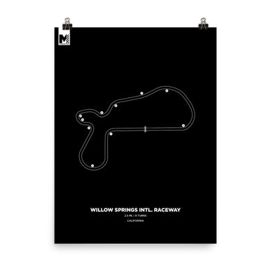 Willow Springs Raceway Poster