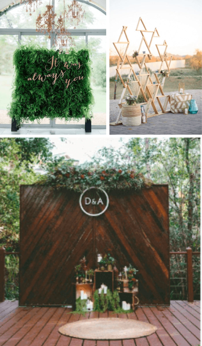 photobooth backdrop location outdoors in a set area