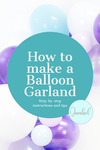 how to make a balloon garland tutorial video step-by-step Junibel video
