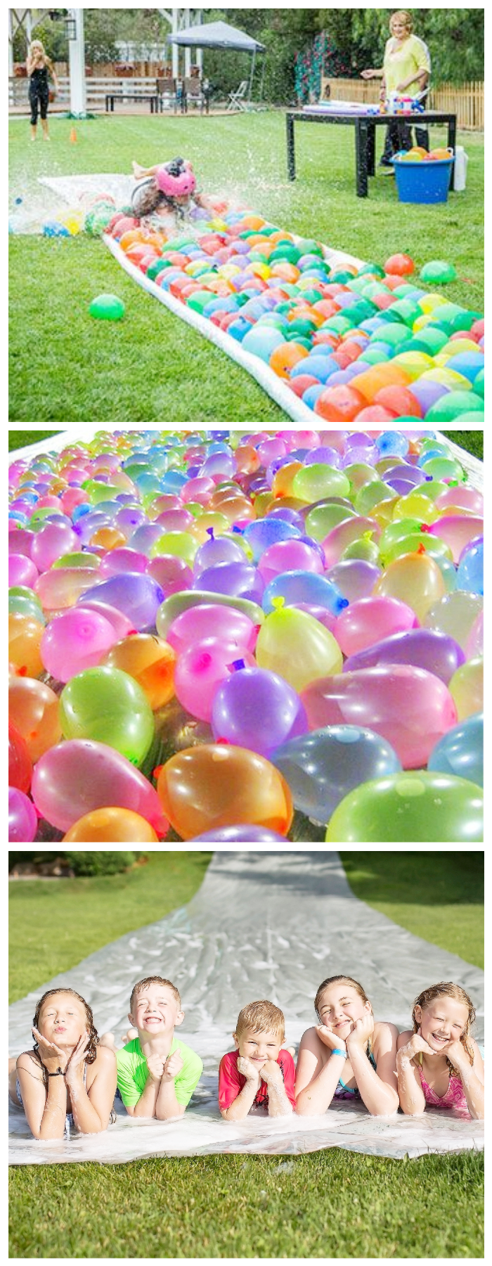 summer party outdoor balloon slip and slide diy kids fun