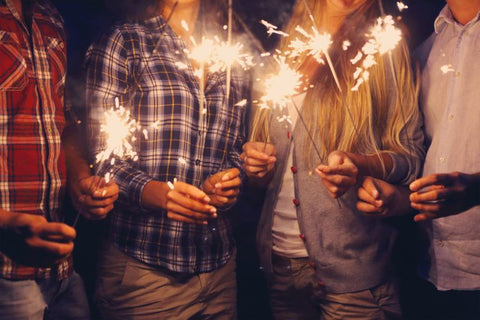 sparklers friends