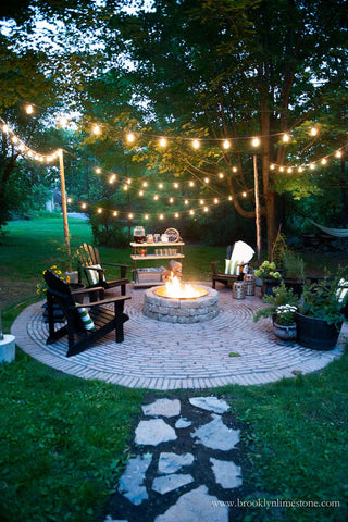 string lights outdoor bbq party