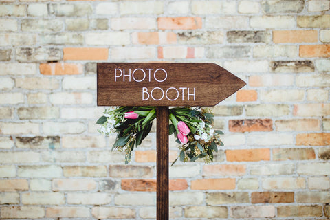backdrop signage photo booth