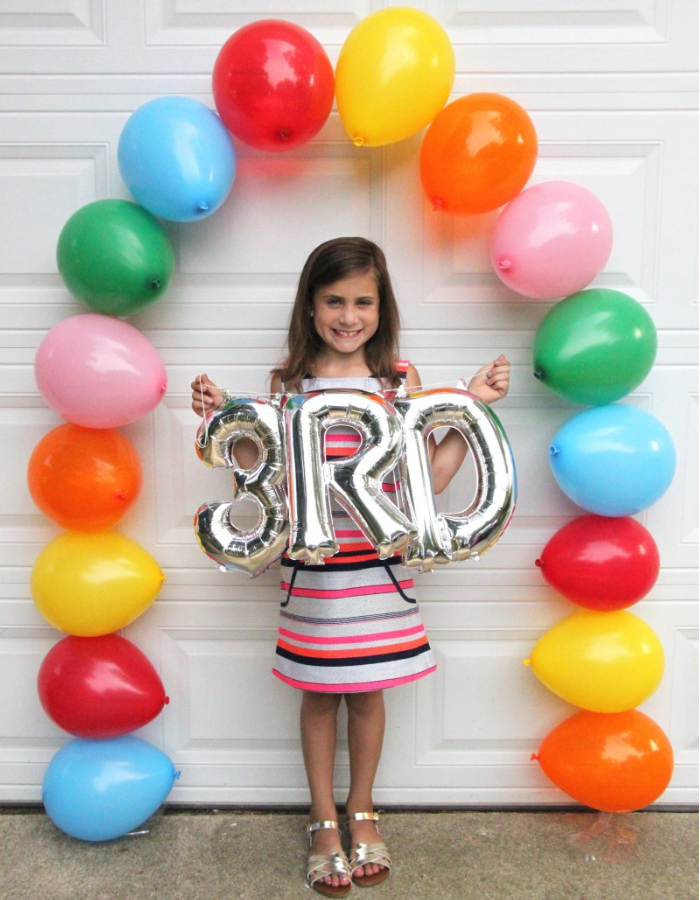 back to school balloon decorations backdrop photo op