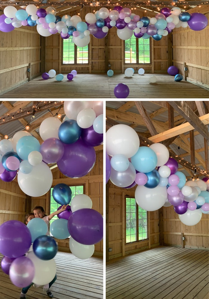 autumn fall balloon garland purple lavender dreams arch tutorial video