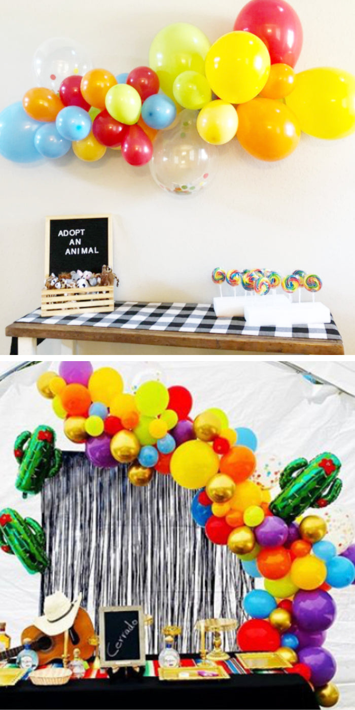 Primary colors balloon garland arch kit backdrop kids party