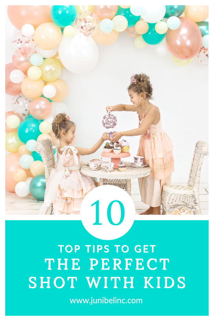 Top tips to get the perfect pic photo shot with kids children tea party balloon garland