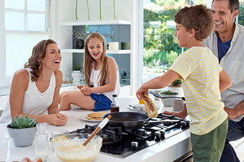 social distancing party activities with kids make breakfast together family