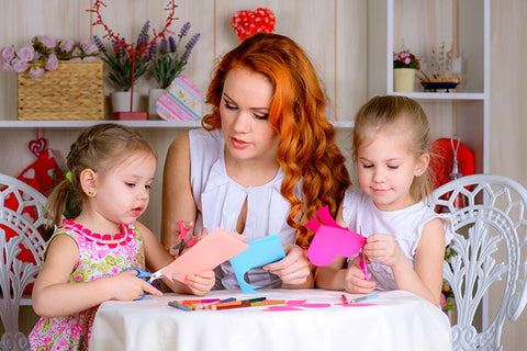 social distancing party activities with kids make cards