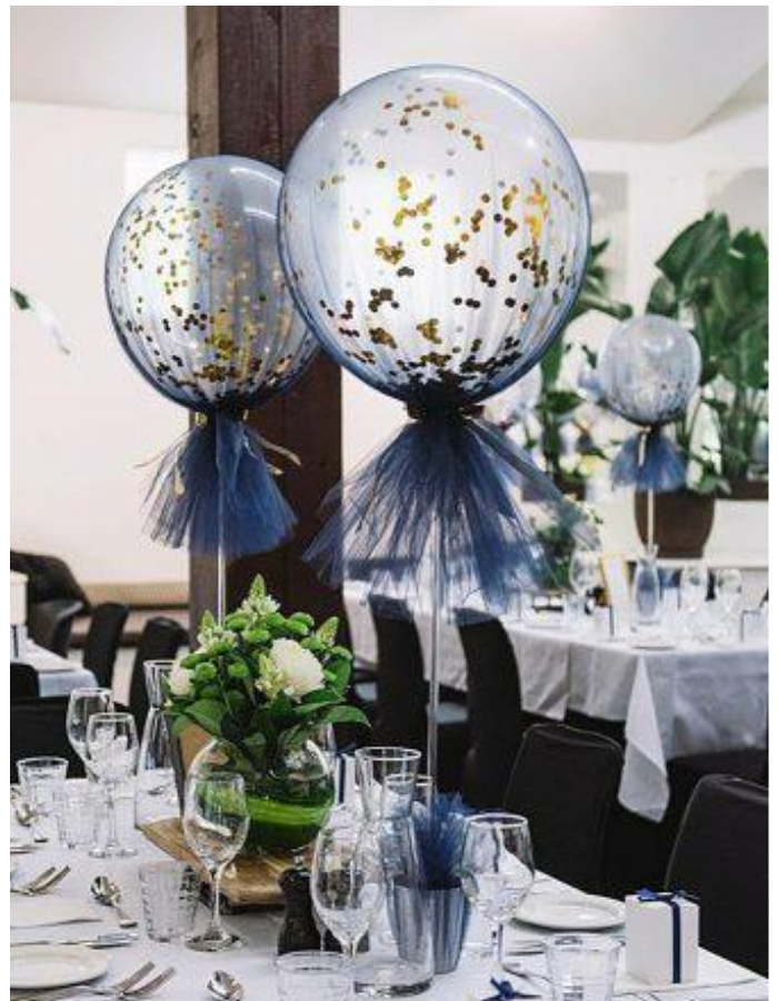 wedding balloon decoration confetti filled balloons