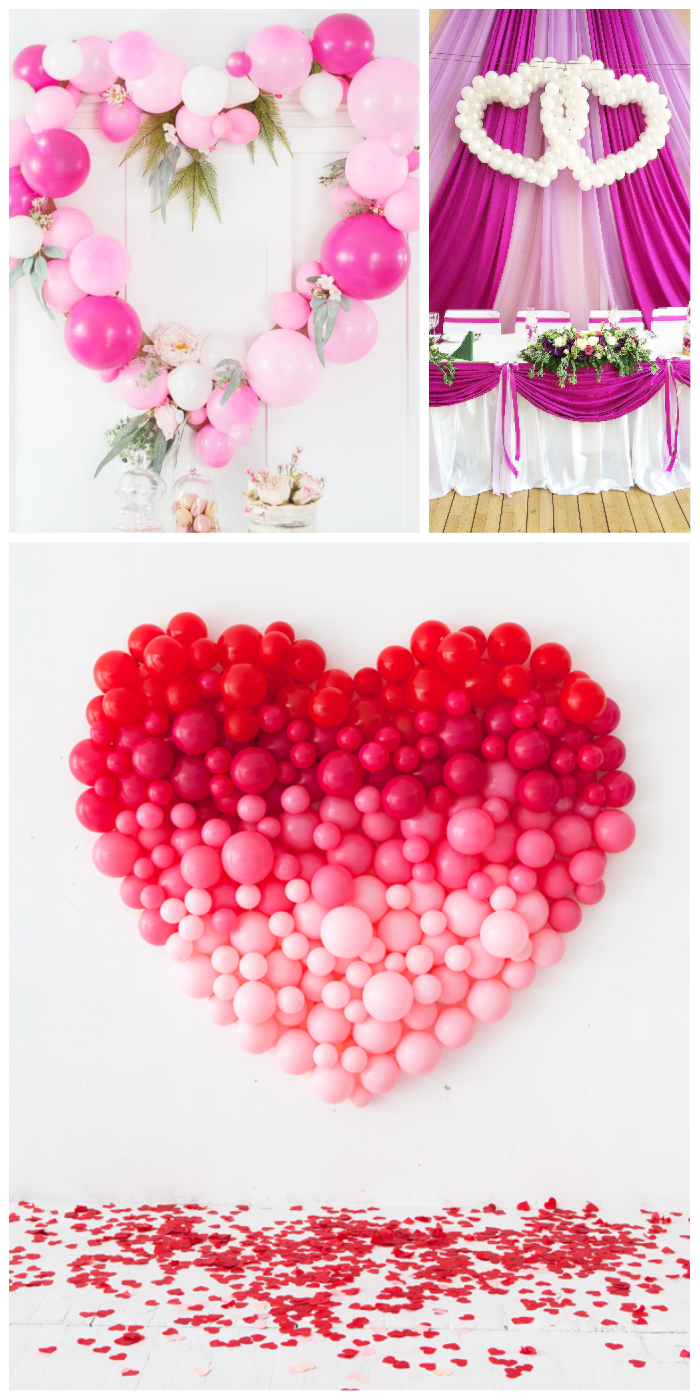 wedding balloon decorations heart shape