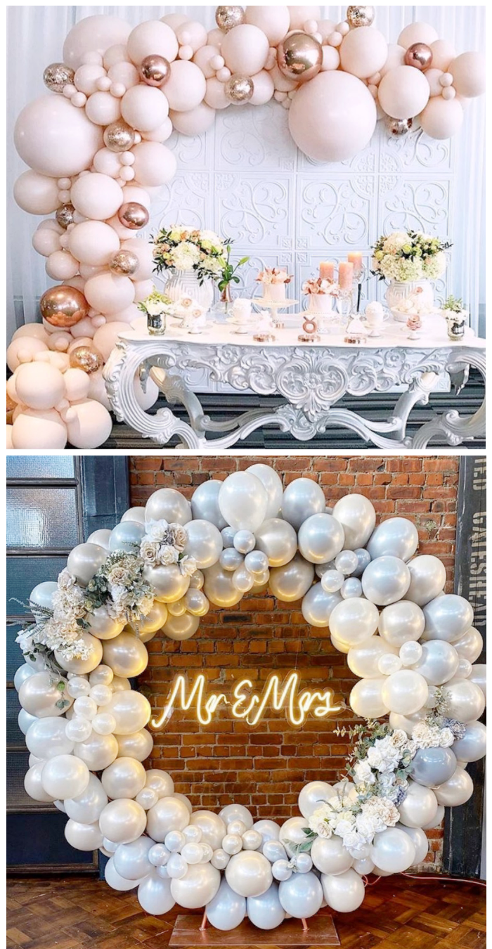 wedding balloon decoration backdrop mr and mrs