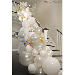 FROSTY GOLD Balloon Garland Kit - Junibel
