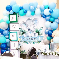 BOUNCY BLUES Balloon Garland Kit - Junibel