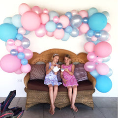 PINKS & BLUES Balloon Garland Kit - Junibel